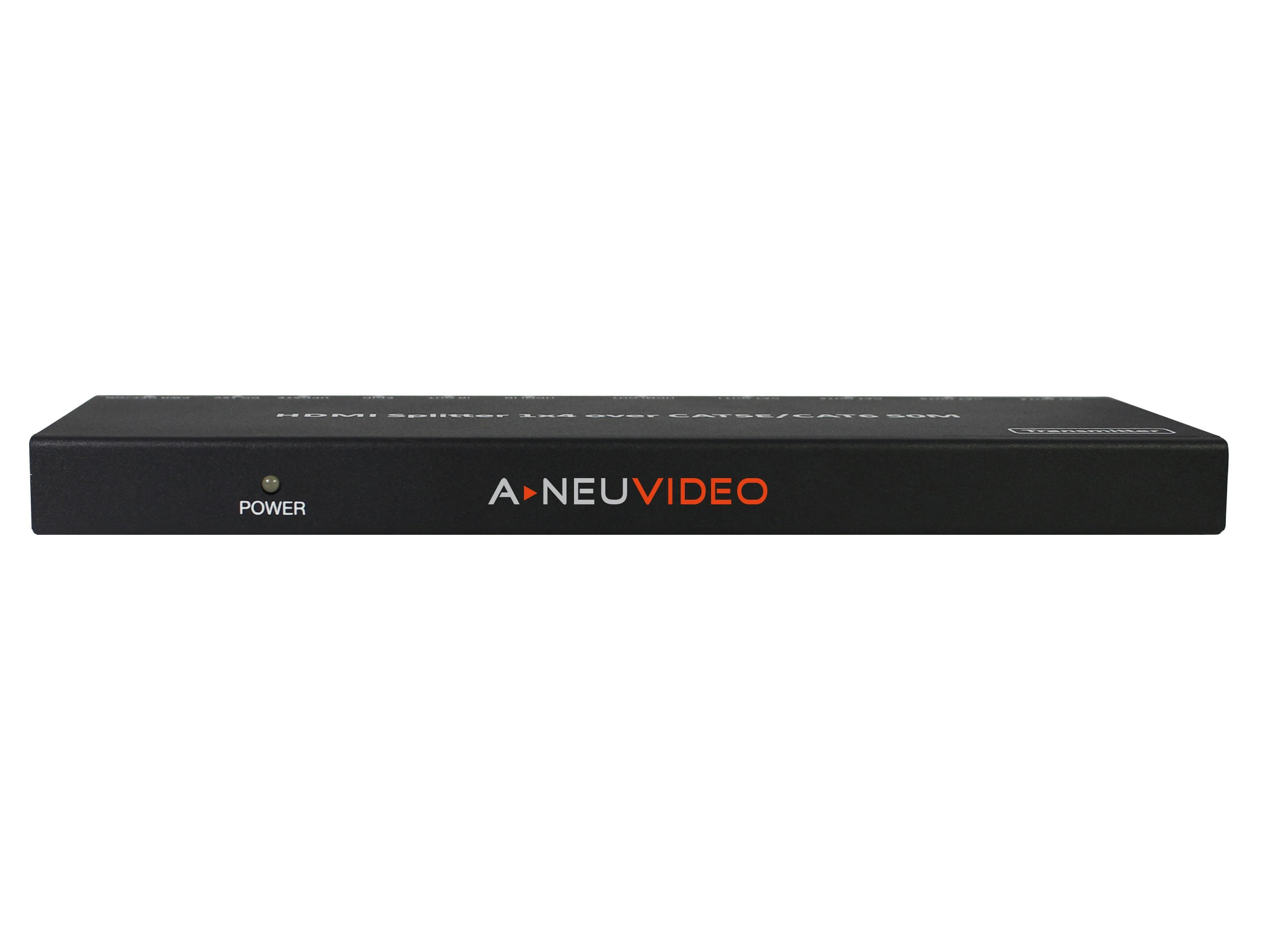 A-NeuVideo ANI-0104POE 1x4 HDMI Extender/Splitter with Receivers Over CAT5e/6 PoE