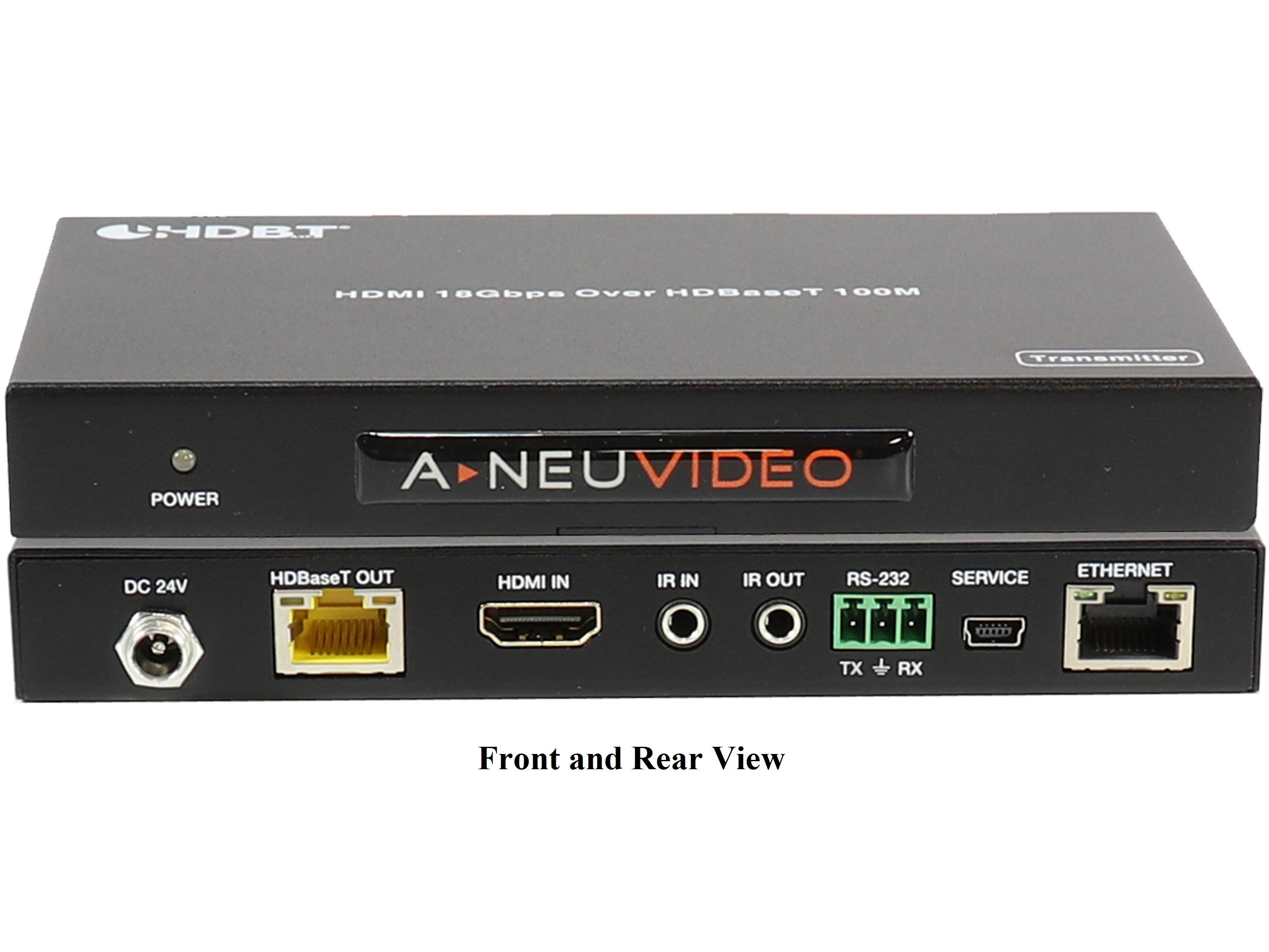 A-NeuVideo ANI-HDR-100 HDMI 4K PoH Extender (Transmitter/Receiver) over Cat5e/6