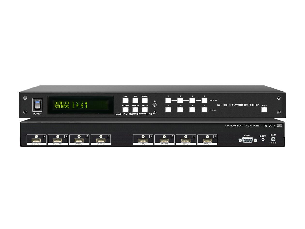 A-NeuVideo HD-44G 4x4 HDMI HDTV Matrix Routing Switcher Selector