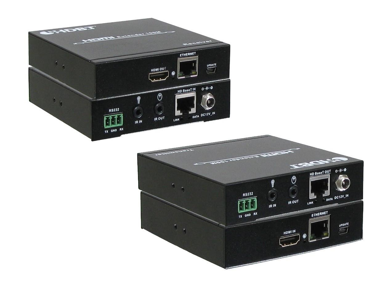 A-NeuVideo ANI-5PLAY HDMI/HDBaseT/PoH Extender (Transmitter/Receiver) Kit 328ft with IR/RS-232
