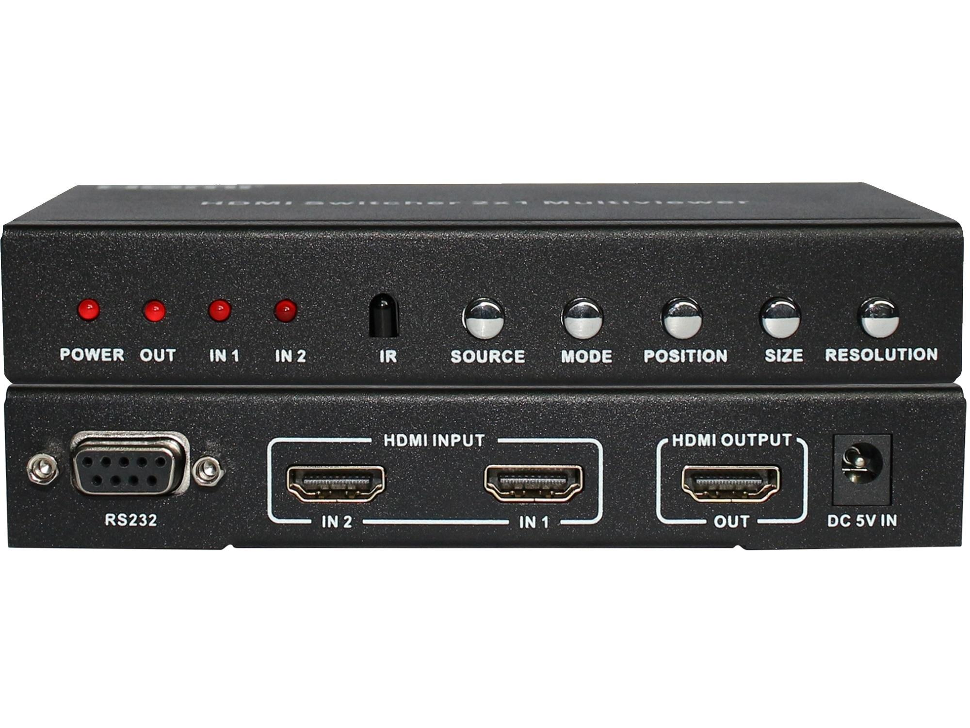 A-NeuVideo ANI-PIP-LITE 2x1 HDMI Multiviewer with PIP