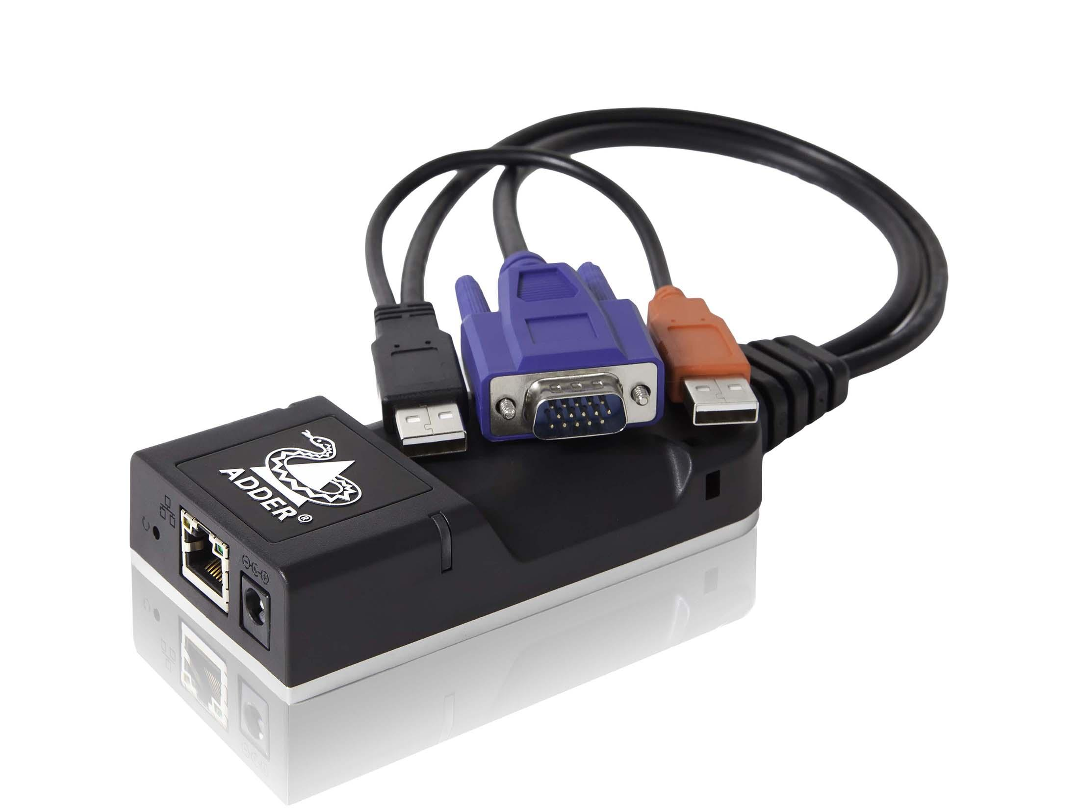 Adder ALIF100T-VGA Zero U form factor IP-based VGA/KVM Extender (Transmitter) with USB