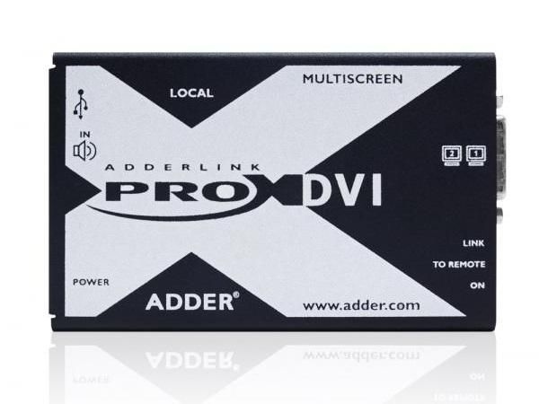Adder X-DVIPRO-MS2-US Dual Head DVI/Audio and 4-port USB CATx Extender