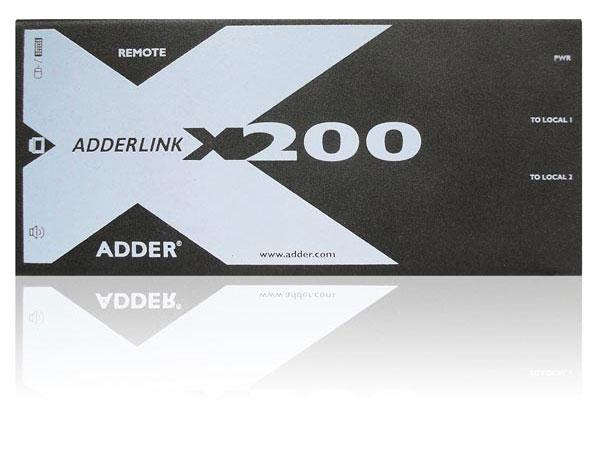 Adder X200AS/R PS/2 KVM Extender ReceiverAudio/De-skew up to 1000ft