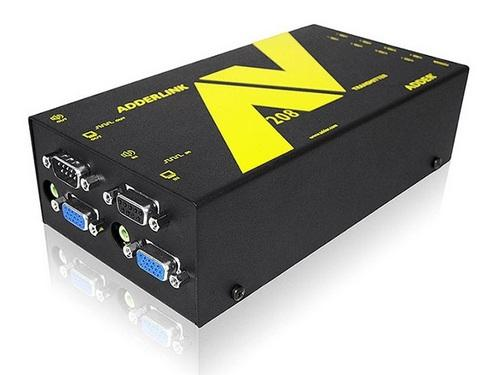Adder ALAV208T-US 8-Way Full HD VGA Digital Signage Extender (Transmitter) with RS232/Audio