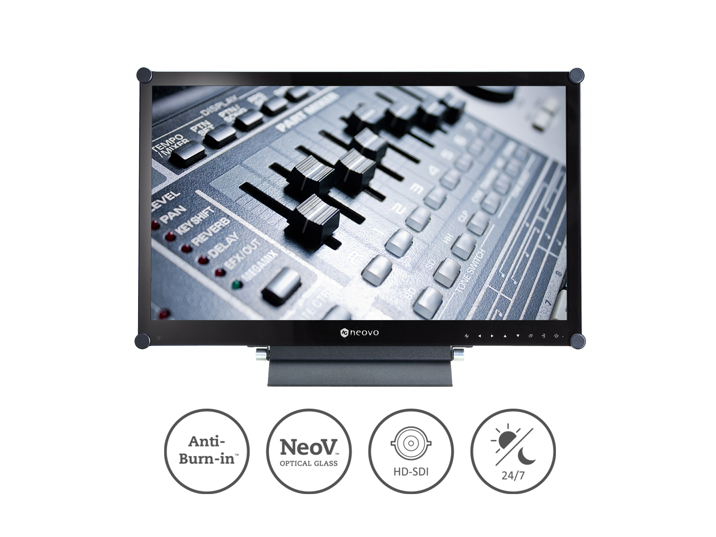 AG Neovo HX-24E 24in LED-backlit Full HD Real-time Video Display with Zero Latency