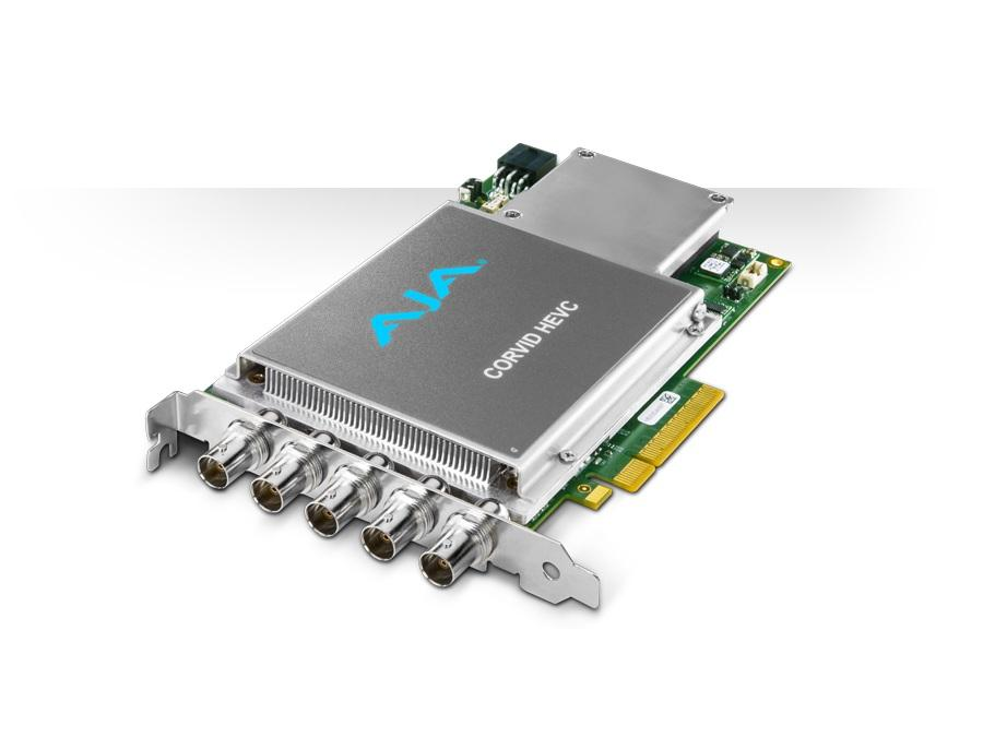 AJA Corvid HEVC-SLOT 4K and Multi-Channel HEVC Encoder Card/Slot powered