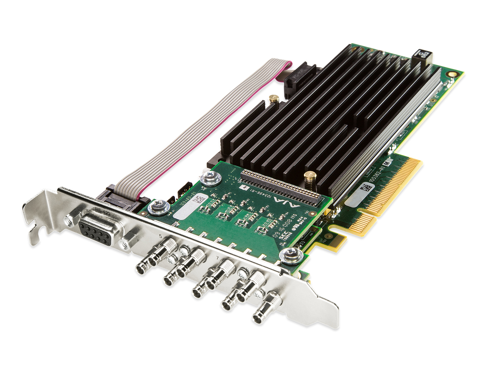 AJA CRV88-9-T-NF Corvid 88 with standard profile PCIe bracket and passive heat sink/includes 5x 101999-02 cables