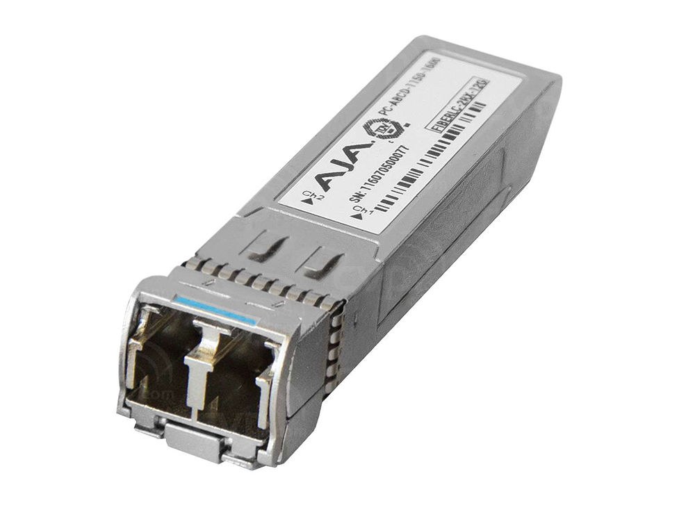 AJA FiberLC-2RX-12G SFP 12G/6G-SDI Dual Fiber LC Receiver Single Mode