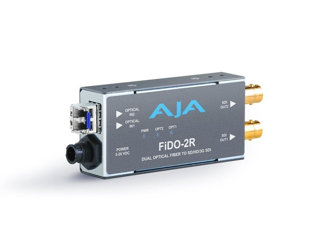 AJA FiDO-2R Dual channel LC Fiber to SDI Extender (Receiver) up to 10km