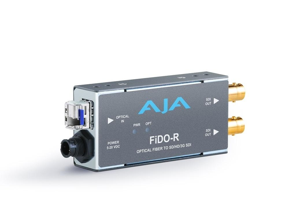 AJA FiDO-R Single channel LC Fiber to SDI Extender (Transmitter) dual SDI outputs up to 10km