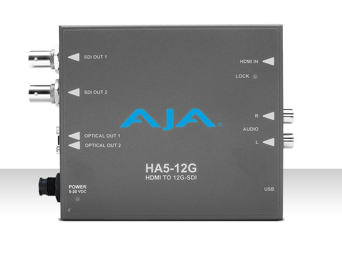 AJA HA5-12G HDMI 2.0 to 12G-SDI Converter