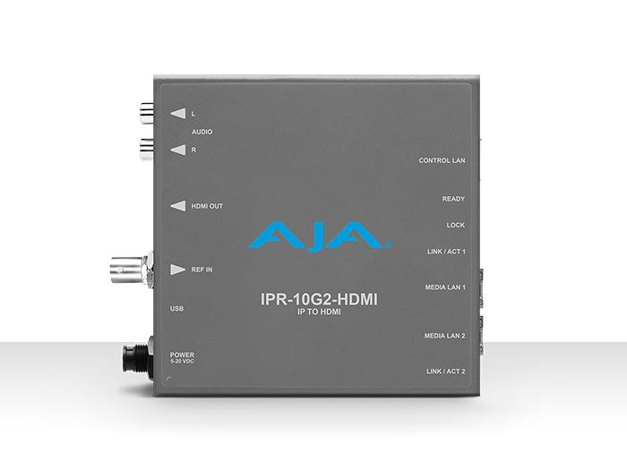 AJA IPR-10G2-HDMI Single Channel SMPTE ST 2110 Video and Audio IP Decoder to HDMI 1.4b (UltraHD/HD) with hitless switching