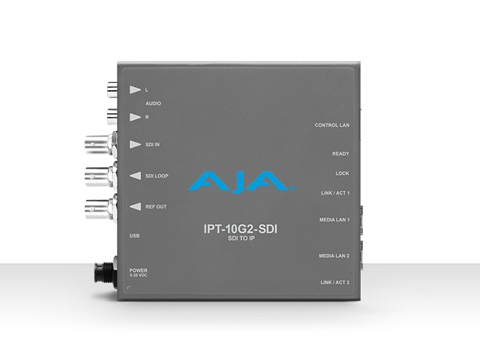 AJA IPT-10G2-SDI 3G-SDI to SMPTE ST 2110 Video and Audio IP Encoder with Hitless Switching