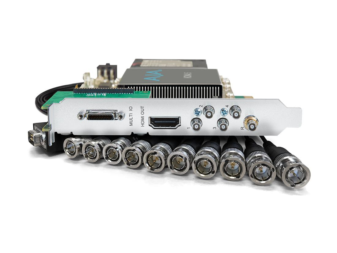 AJA KONA-5-R0 12G-SDI I/O 10-bit PCIe Card HDMI 2.0 output with HFR support (ATX Power)