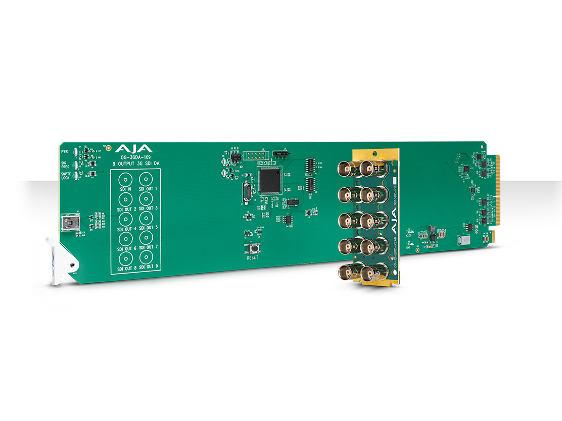 AJA OG-3GDA-1X9 openGear 1x9 3G-SDI Reclocking Distribution Amplifier with DashBoard Support
