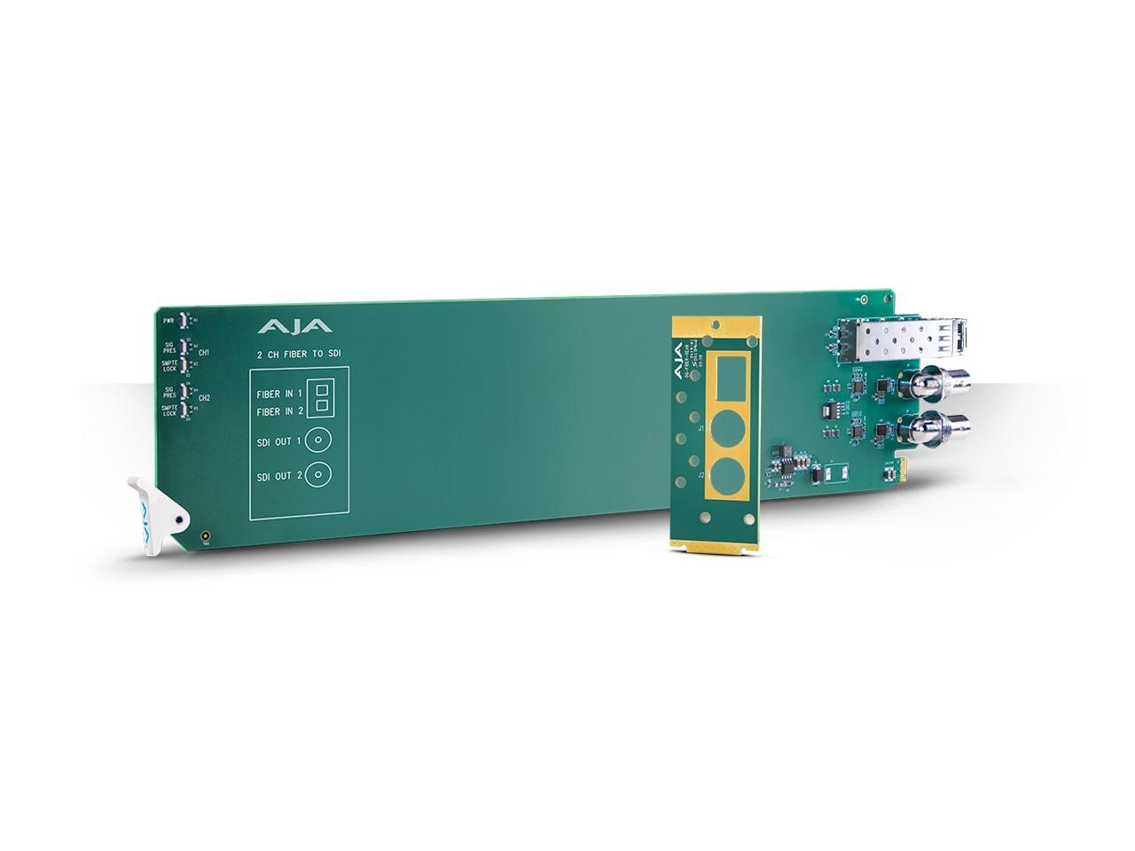 AJA OG-FIBER-2R-MM openGear 2-Channel Multi-Mode LC Fiber to 3G-SDI Receiver