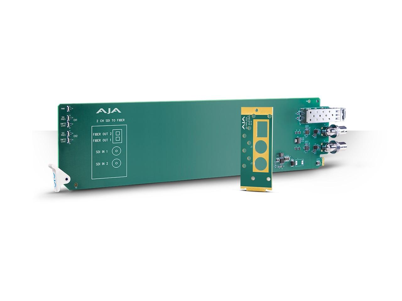 AJA OG-FIBER-2T-MM openGear 2-Channel 3G-SDI to Multi-Mode LC Fiber (Transmitter)