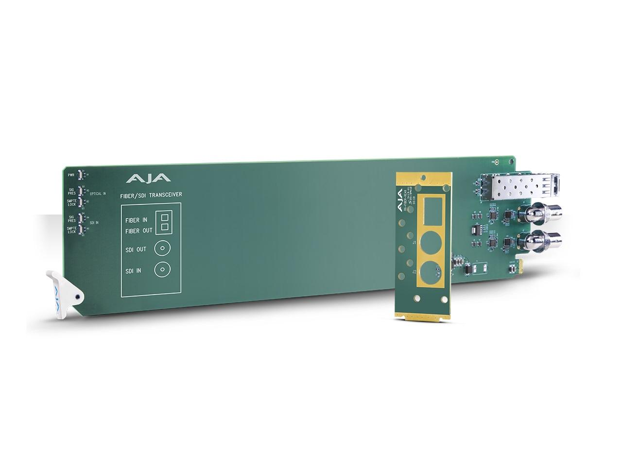 AJA OG-FIBER-TR-MM openGear 1-Channel 3G-SDI/LC Multi-Mode LC Fiber Transceiver