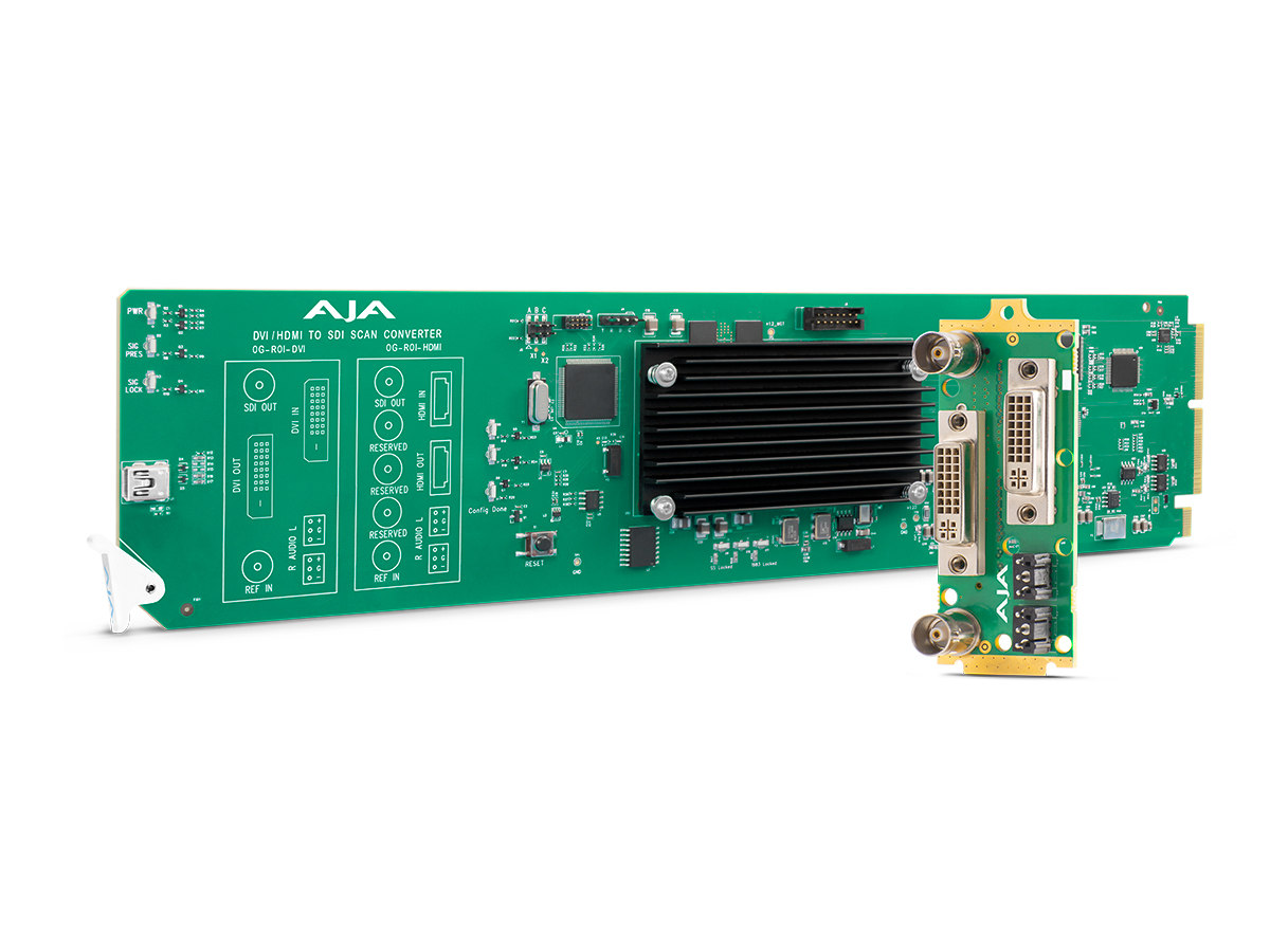 AJA OG-ROI-DVI openGear DVI to SDI Scan Converter with Region of Interest Scaling/DashBoard Support