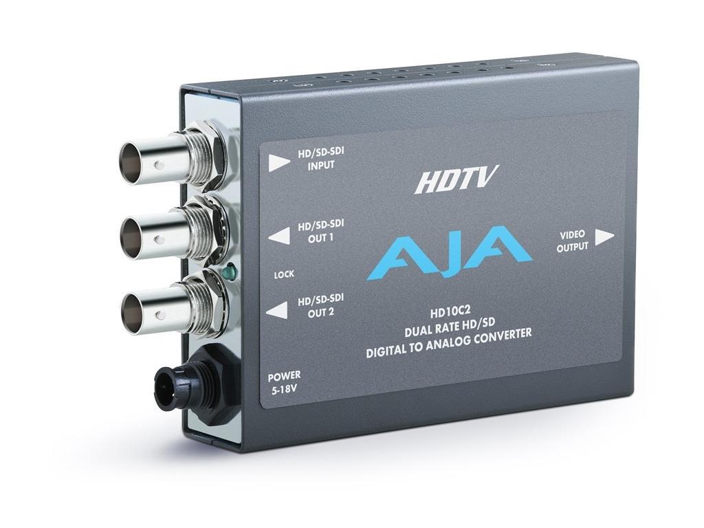 AJA HD10C2 Dual Rate HD/SD Digital Analog Converter Equalized HD-SDI Loop-Thru