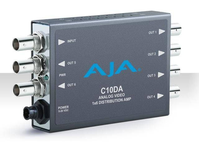 AJA C10DA 1x6 Analog Video Distribution Amplifier