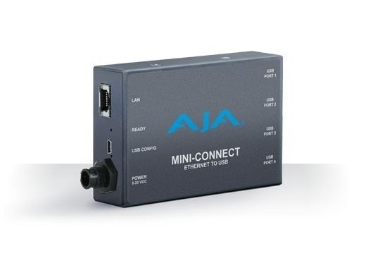 AJA Mini-Connect ROI Mini-Converters via Ethernet Controller