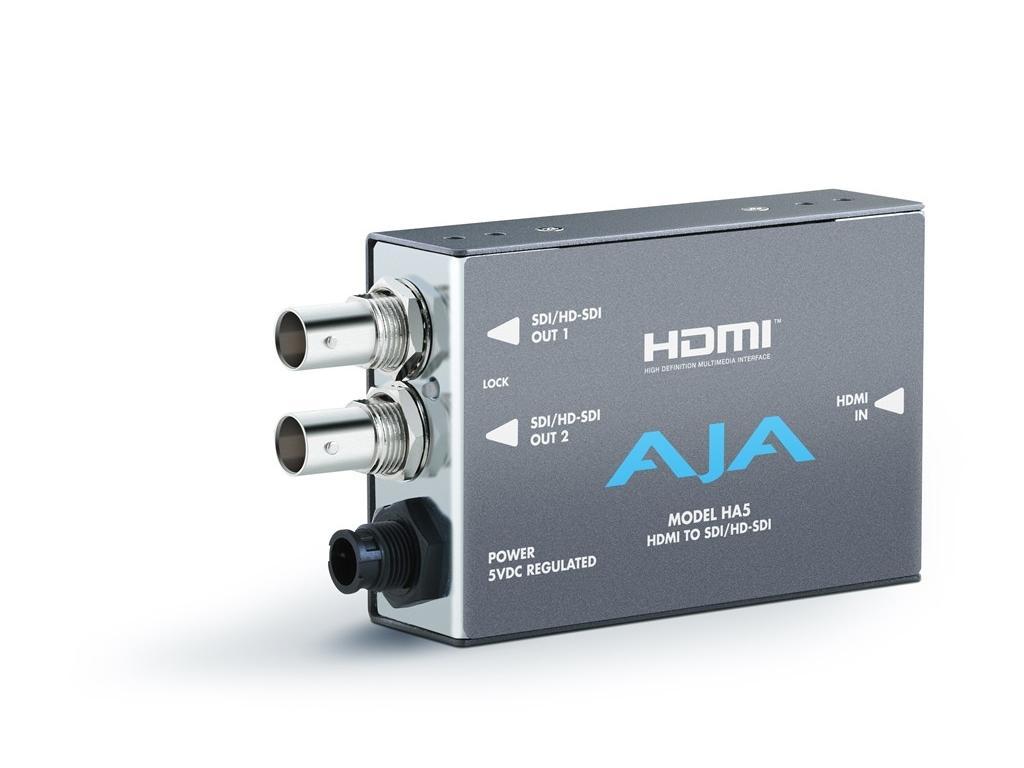 AJA HA5-b HDMI to SD/HD-SDI Converter (HDMI audio into  SD/HD-SDI output)