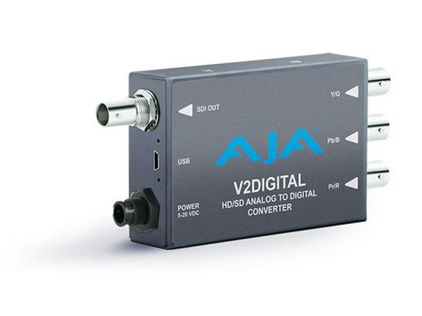 AJA V2Digital-b Component/Composite Analog to HD/SD-SDI Mini-Converter