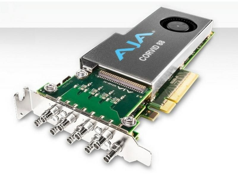 AJA Corvid 88-T 2 Gen PCIE 8 channel I/O card/4K capable/tall (standard) PCIe bracket/no cables
