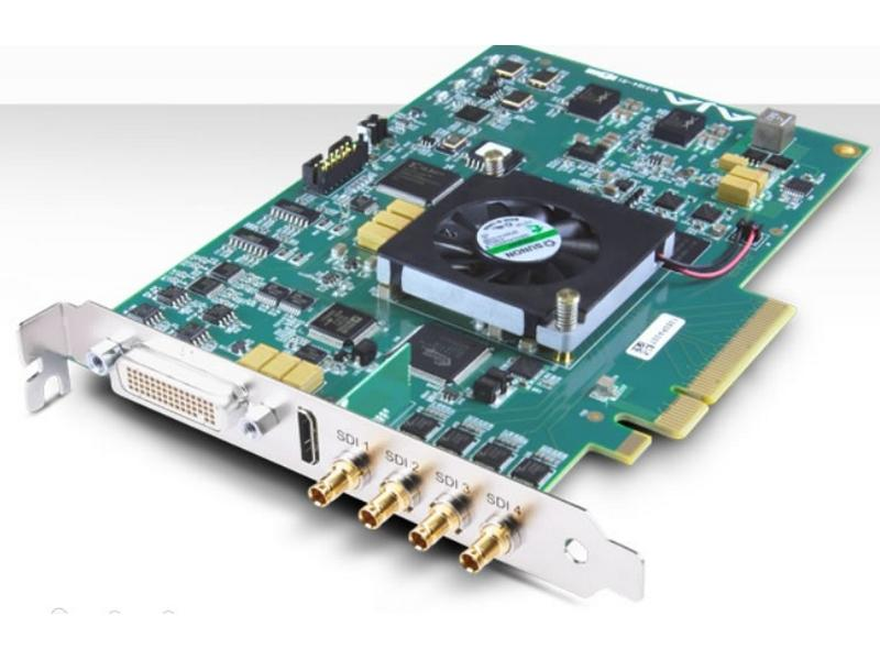 AJA KONA-4-R0-S01 4K/2K/3G/Dual Link HD/ HD/SD I/O 10-bit PCIe Card with HDMI 1.4a output/HFR/Bracket/Cables