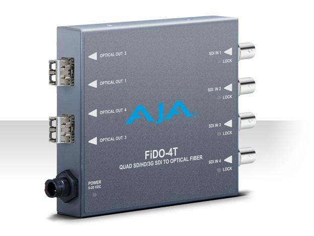 AJA FiDO-4T 4-channel 3G-SDI to LC Optical Fiber Converter