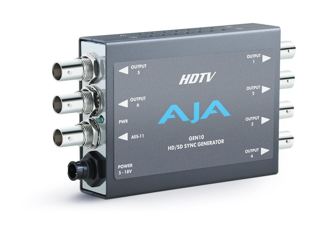 AJA GEN10 HD/SD Sync Generator (7 outputs) simultaneous HD and SD sync