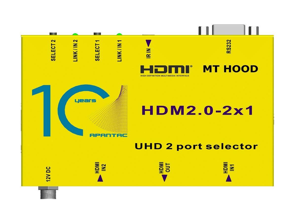 Apantac HDM2.0-2x1 2x1 4K 60Hz HDMI 2.0 and HDCP 2.2 Switch