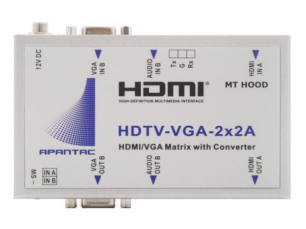 Apantac HDTV-VGA-2x2A 2x1 HDMI/VGA Switch RS232 Remote Controllable