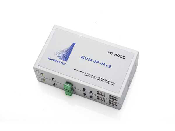Apantac KVM-IP-Rx2 Dual-Head KVM over IP Extender (Receiver) with RS-232/EDID