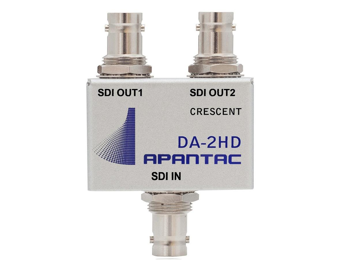 Apantac DA-2HD Passive 1x2 Triple-rate SDI/ASI/Composite Distribution Amplifier