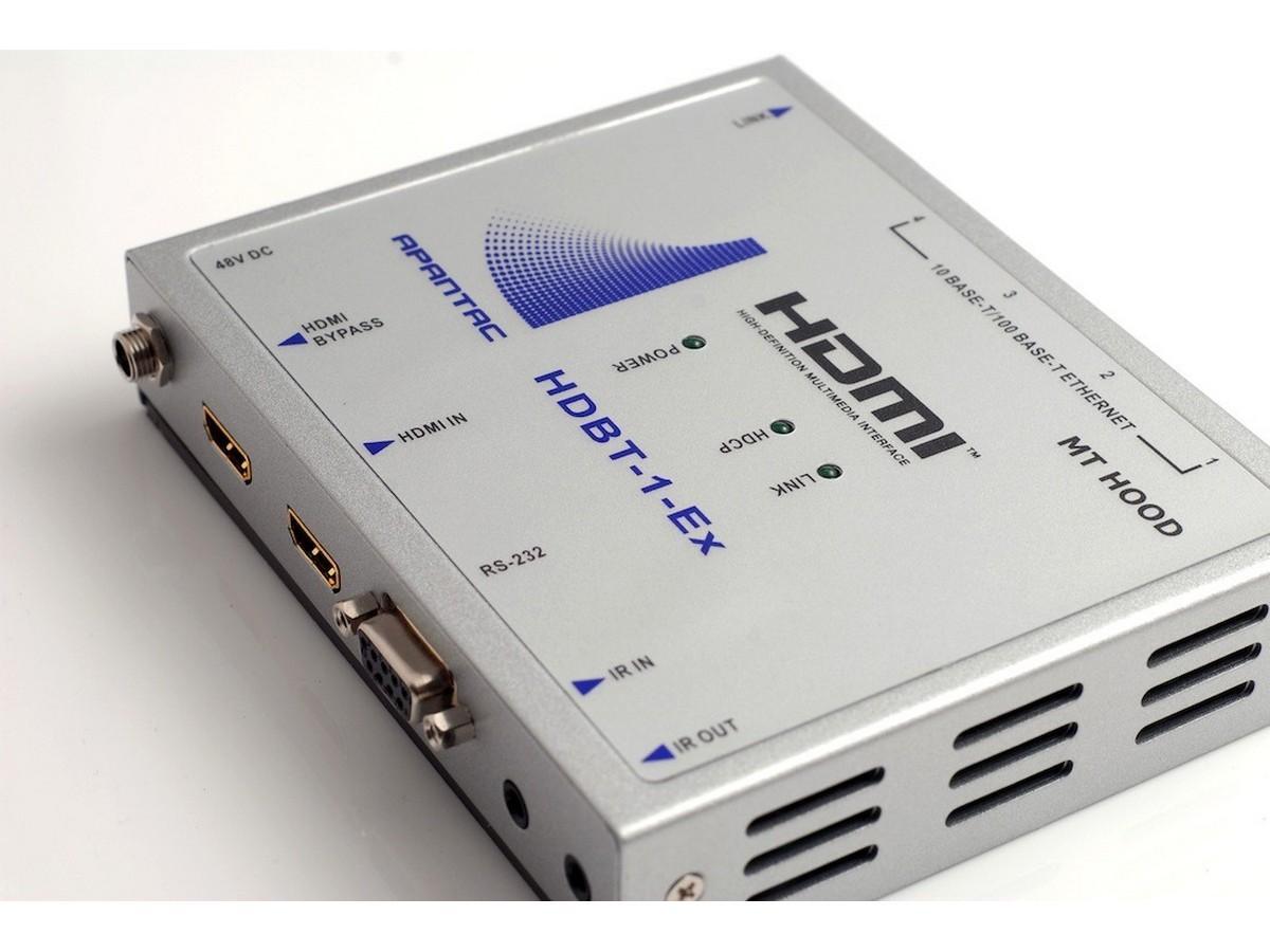 Apantac HDBT-1-Ex HDBaseT HDMI Extender (Transmitter) with IR/RS232/ Ethernet/POE up to 330 feet
