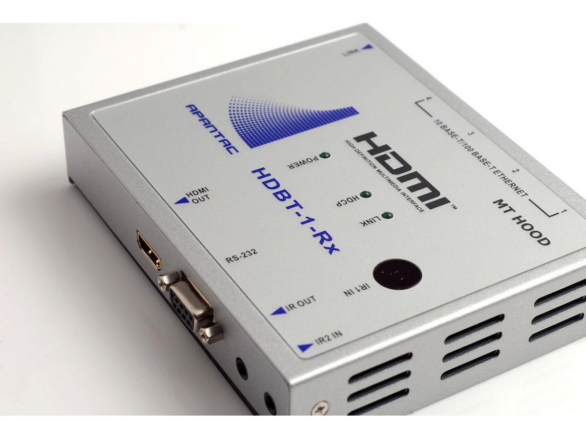Apantac HDBT-1-Rx HDBaseT HDMI Extender (Receiver) with IR/RS232/ Ethernet/POE up to 330 feet