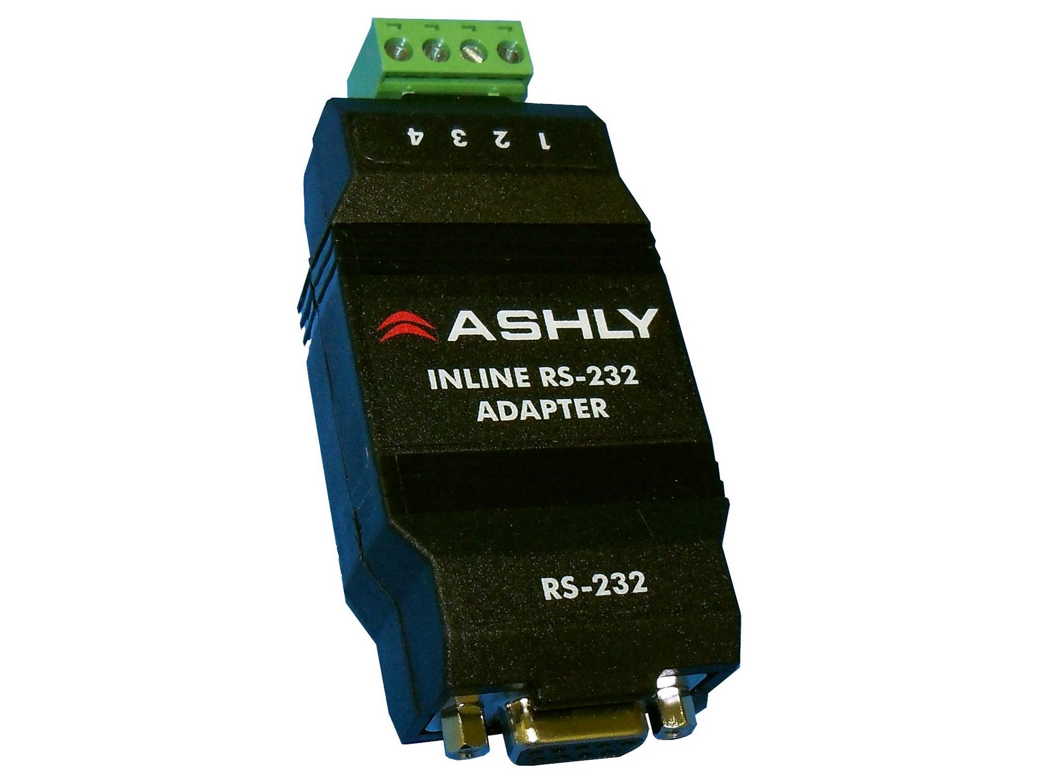 Ashly INA-1 In-line RS-232 Adapter provides connectivity to remote data ports