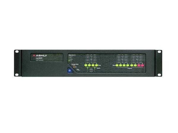 Ashly ne4800dst 4x8 Protea DSP Audio System Processor with 4Ch AES3 Inputs/8Ch AES3 Outputs and Dante card