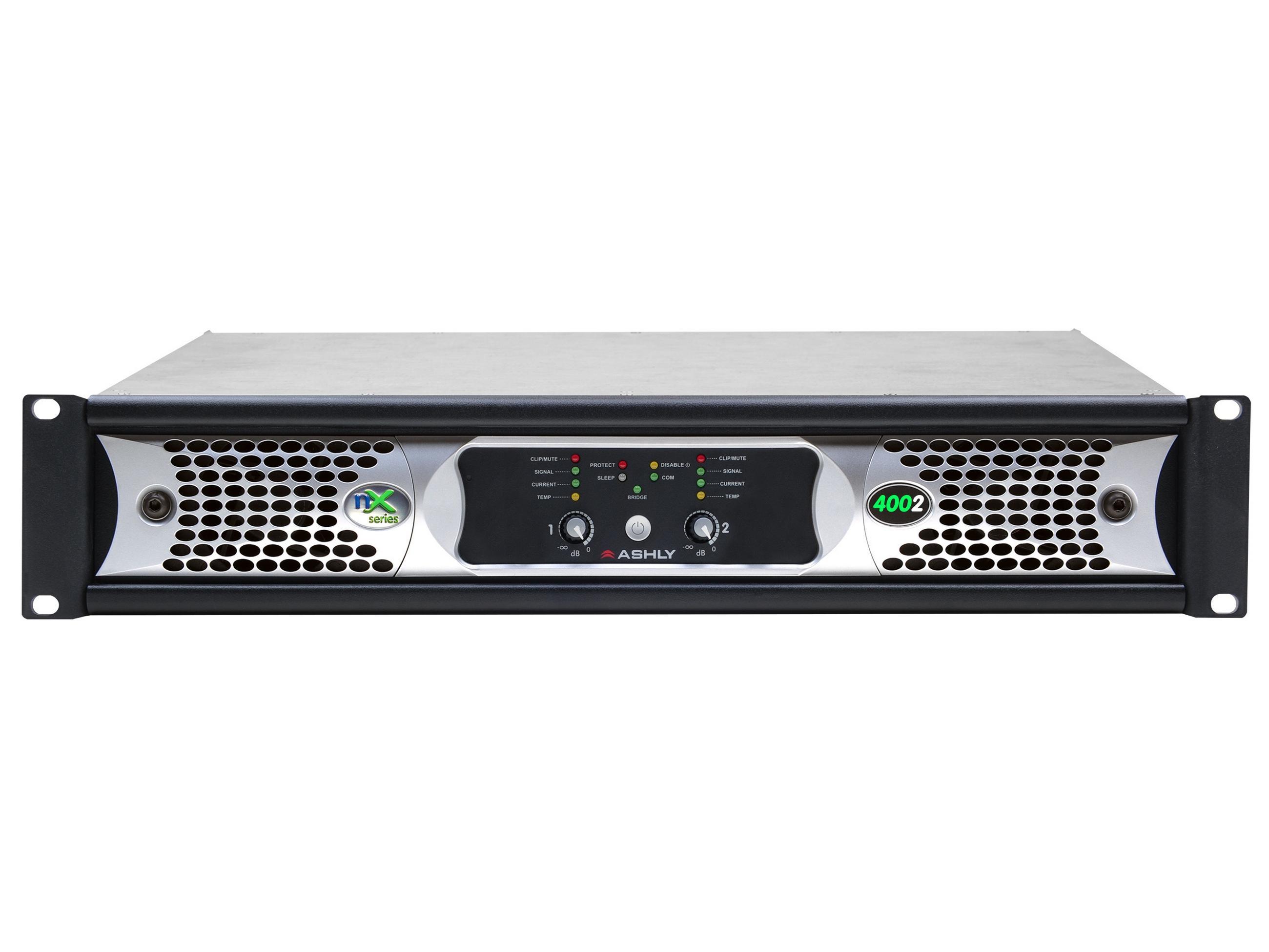 Ashly nX4002 Power Amplifier 2 x 400 Watts/2 Ohms