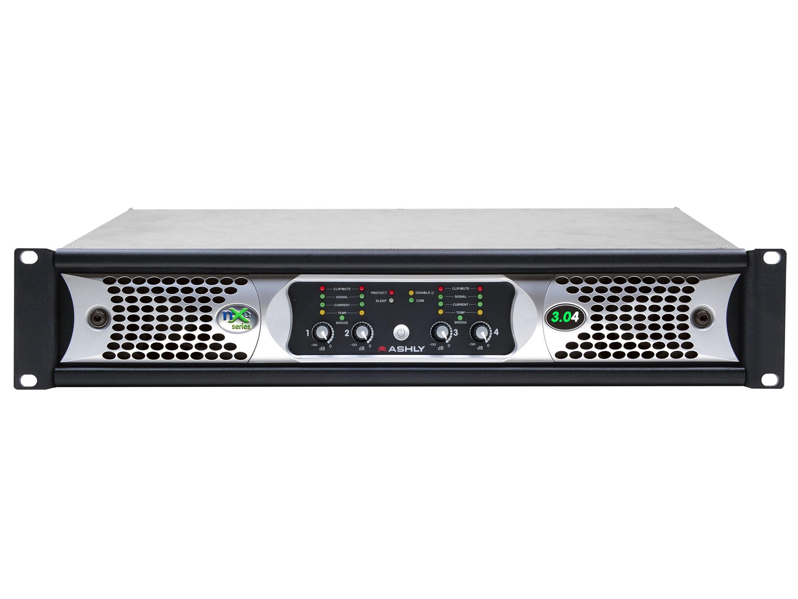 Ashly nXe3.04 Network Power Amplifier 4 x 3000 Watts/2 Ohms