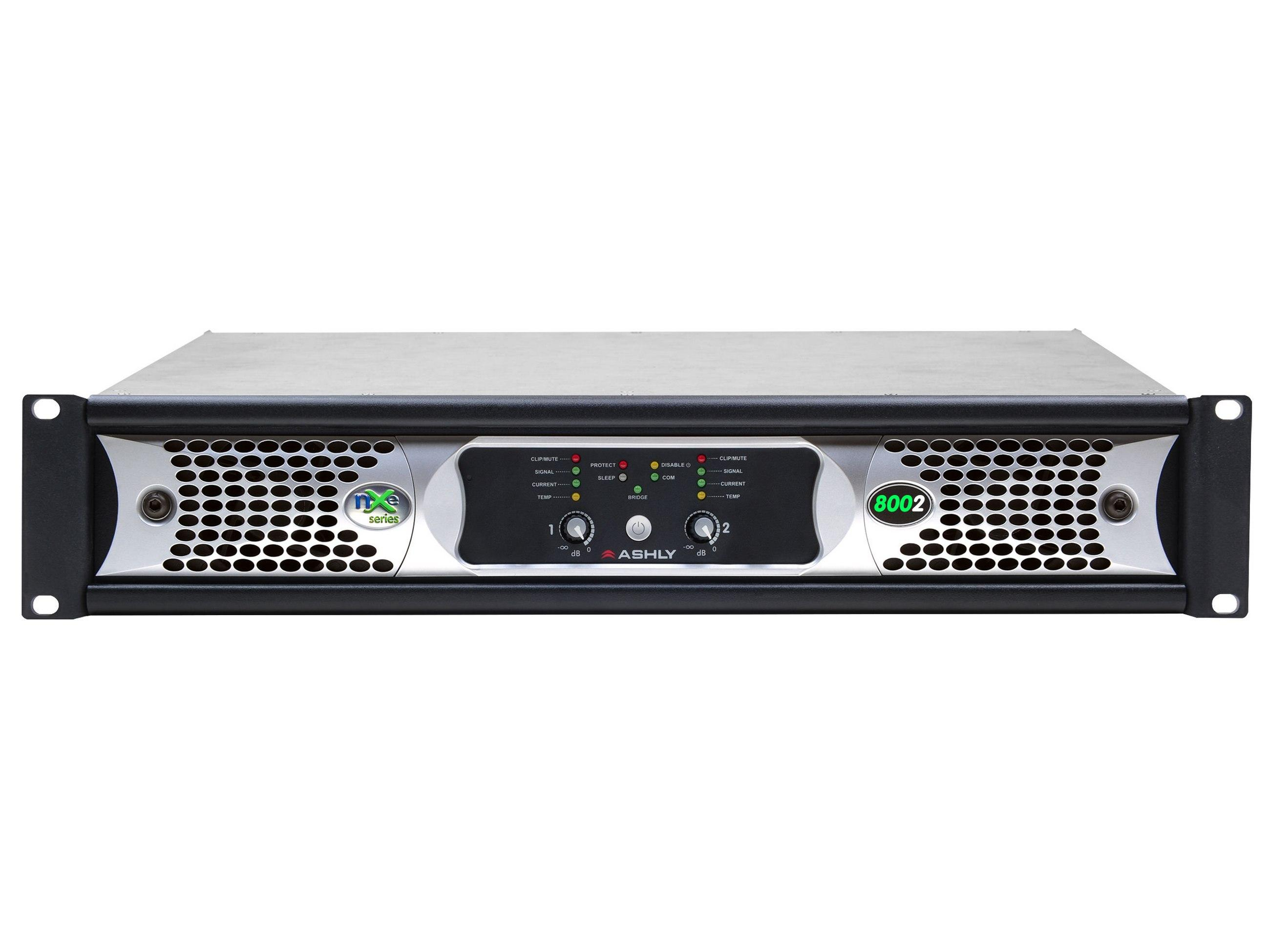Ashly nXe8002 Network Power Amplifier 2 x 800 Watts/2 Ohms