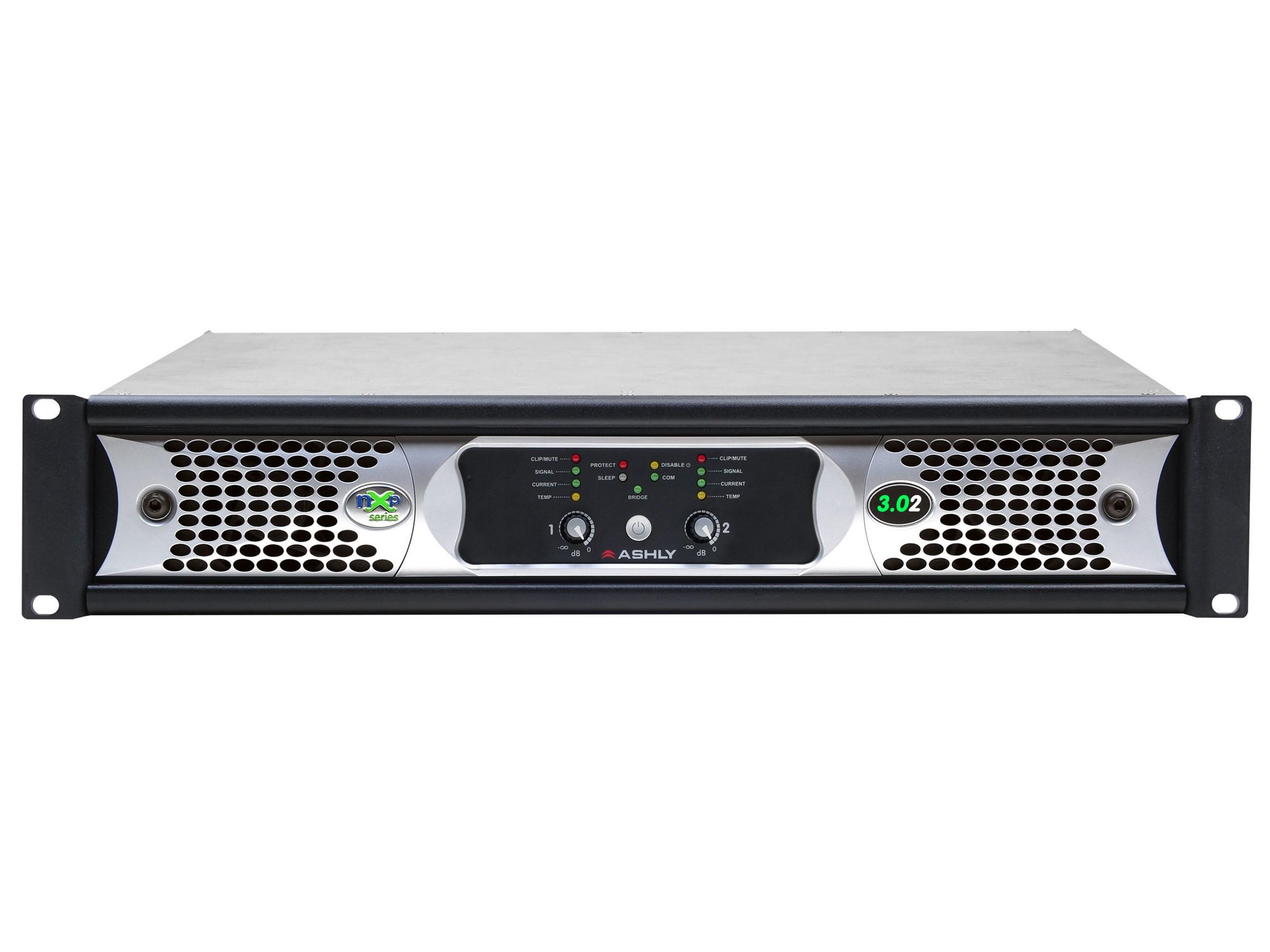 Ashly nXp3.02 Network Power Amplifier 2 x 3000 Watts/2 Ohms with Protea DSP