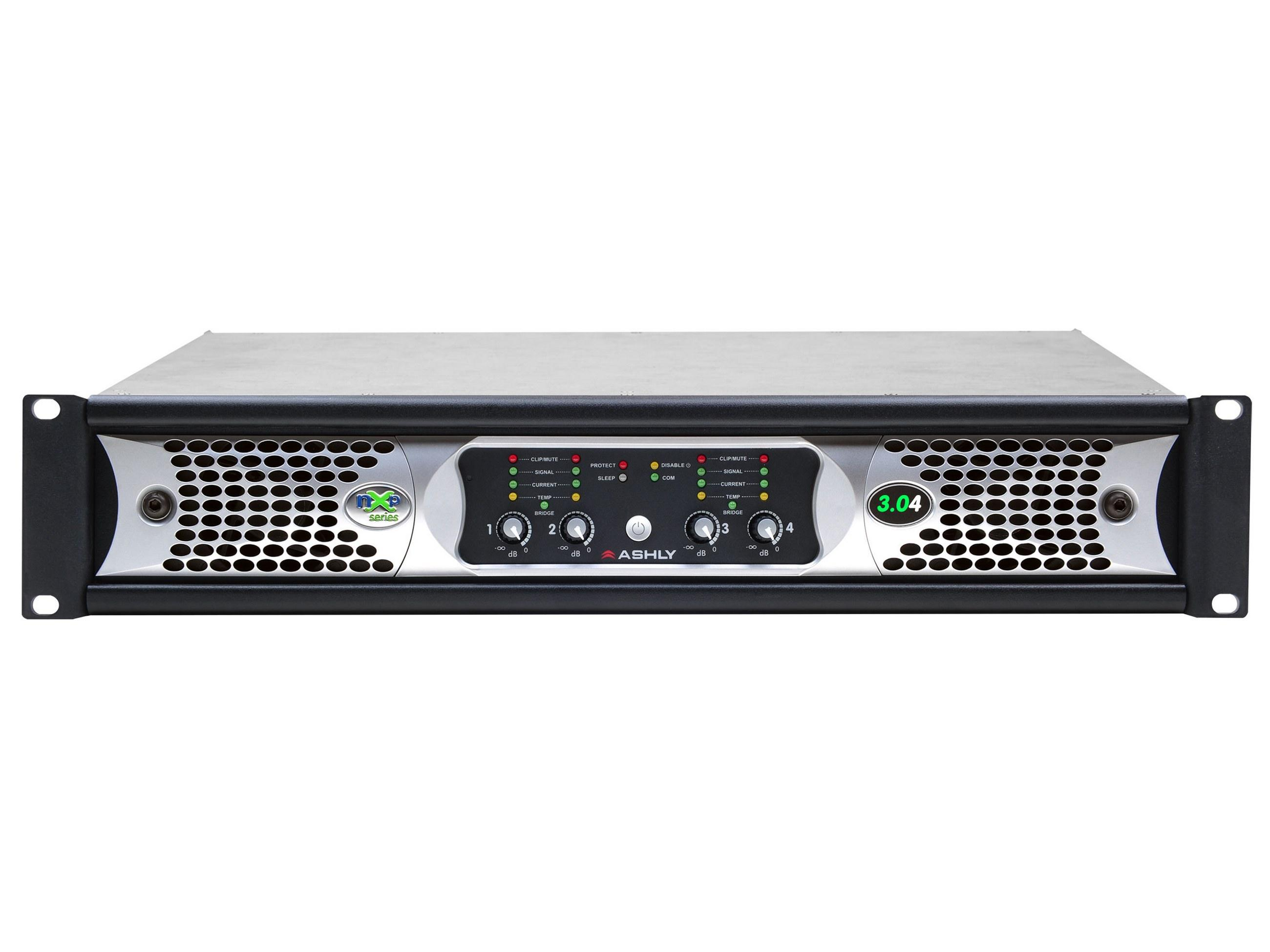 Ashly nXp3.04 Network Power Amplifier 4 x 3000 Watts/2 Ohms with Protea DSP