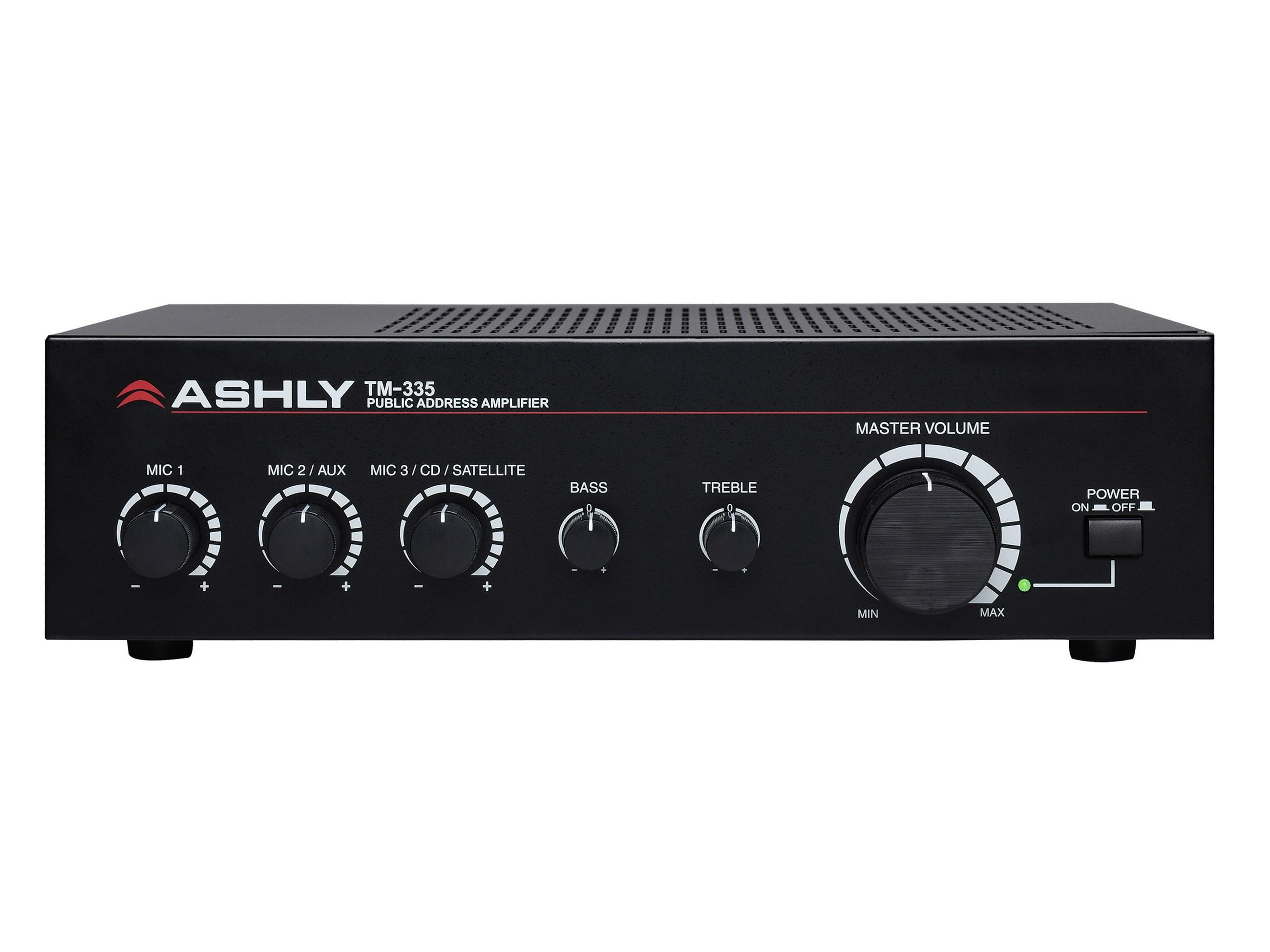 Ashly TM-335 35-W 3-Input Mixer/Amp w Xfmr Isolated Constant-Voltage/4 Ohm Out