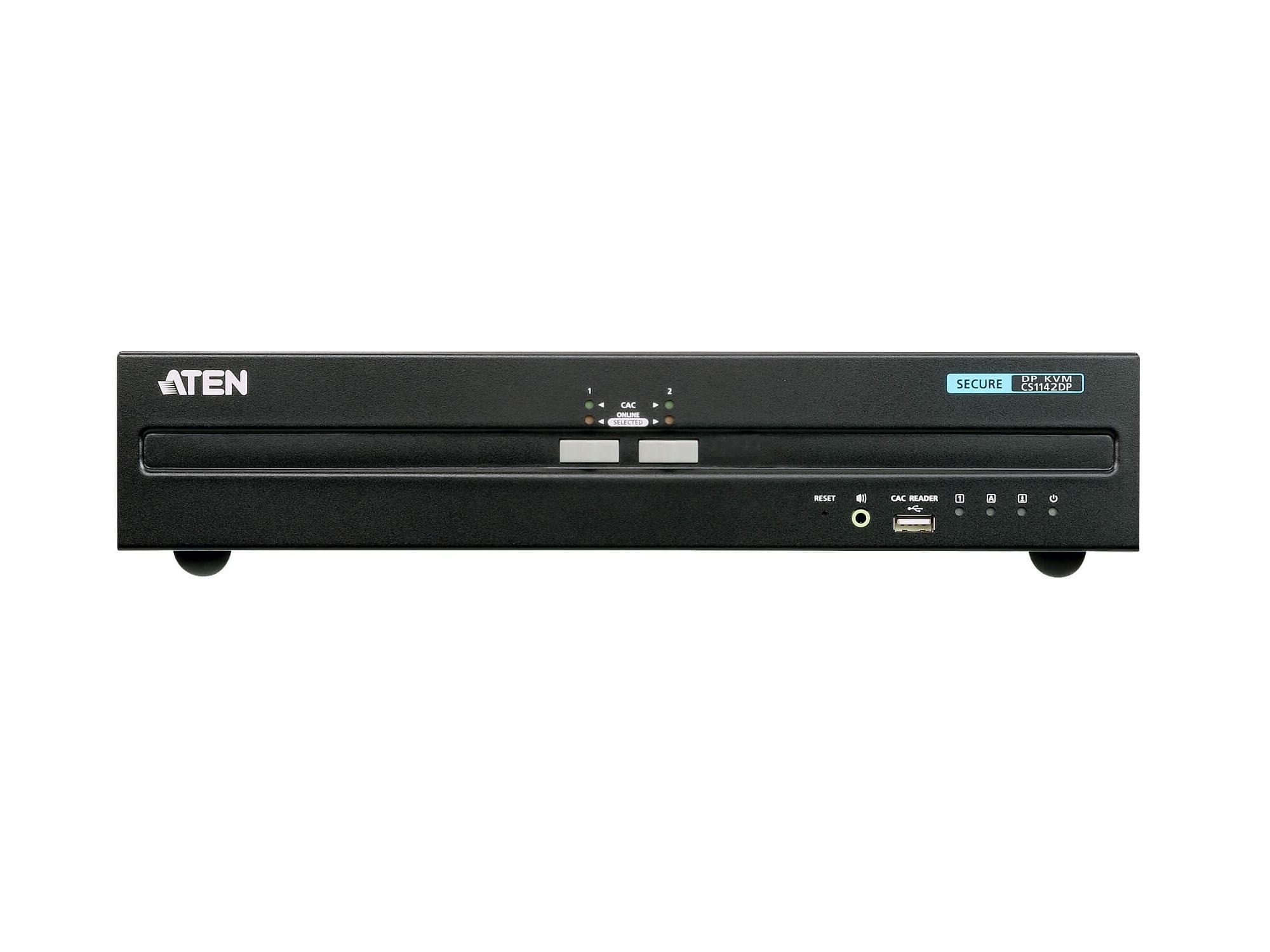 Aten CS1142DP 2-Port USB DisplayPort Dual Display Secure KVM Switch (PSS PP v3.0 Compliant)