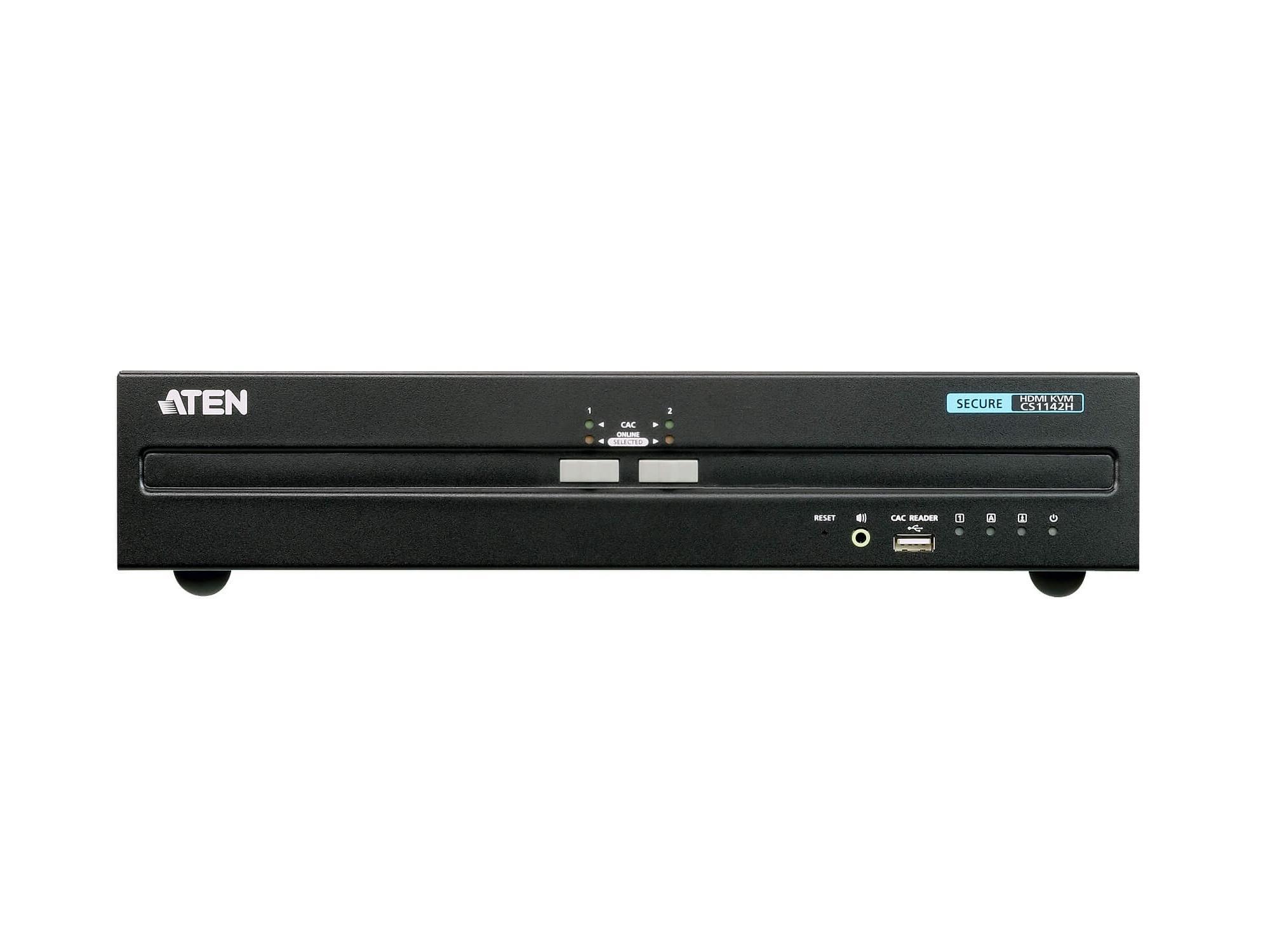 Aten CS1142H 2-Port USB HDMI Dual Display Secure KVM Switch (PSS PP v3.0 Compliant)