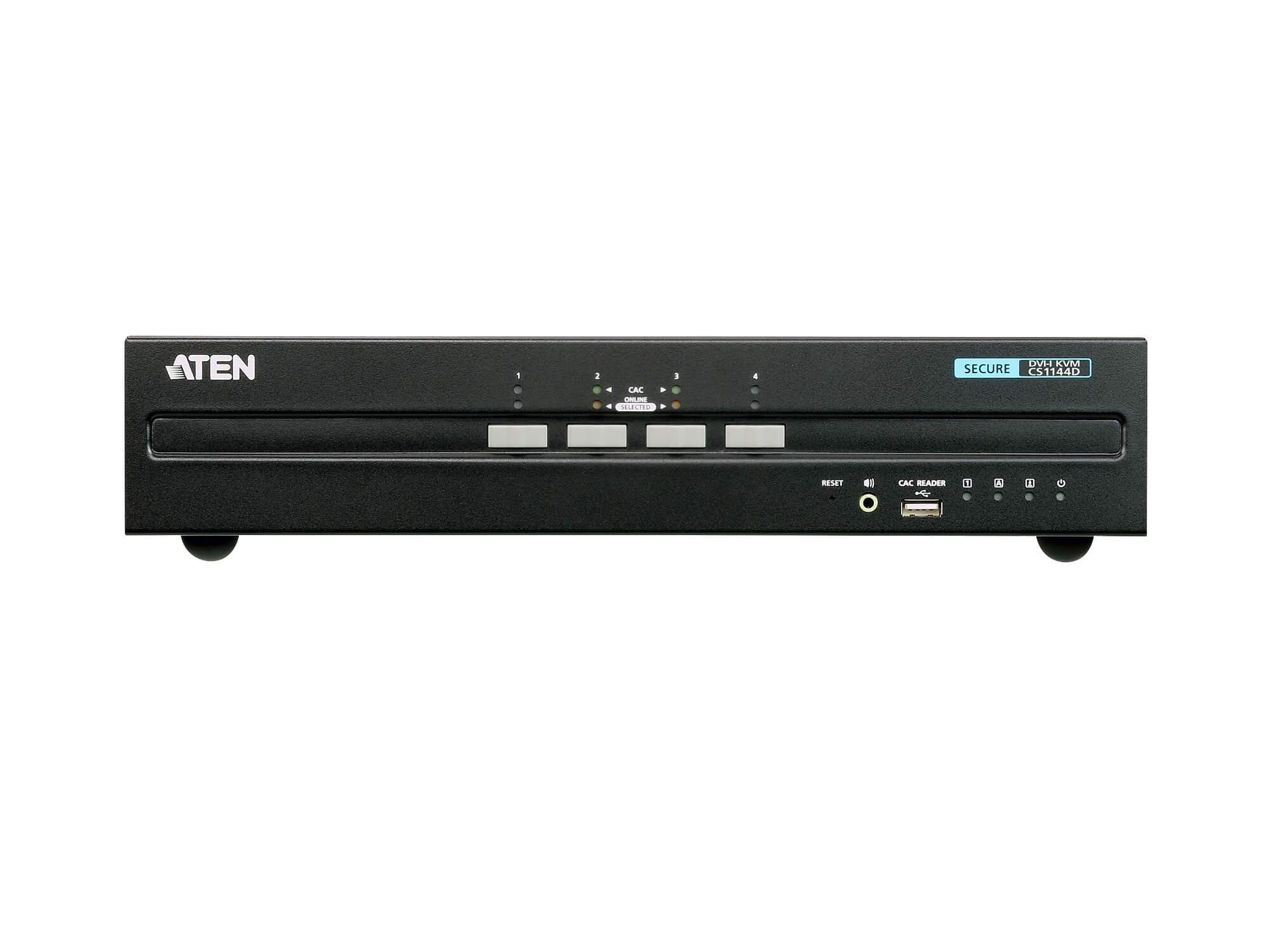 Aten CS1144D 4-Port USB DVI Dual Display Secure KVM Switch (PSS PP v3.0 Compliant)